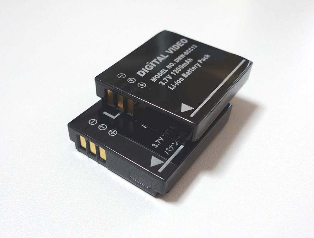 dmc-lx3 純正と互換バッテリー