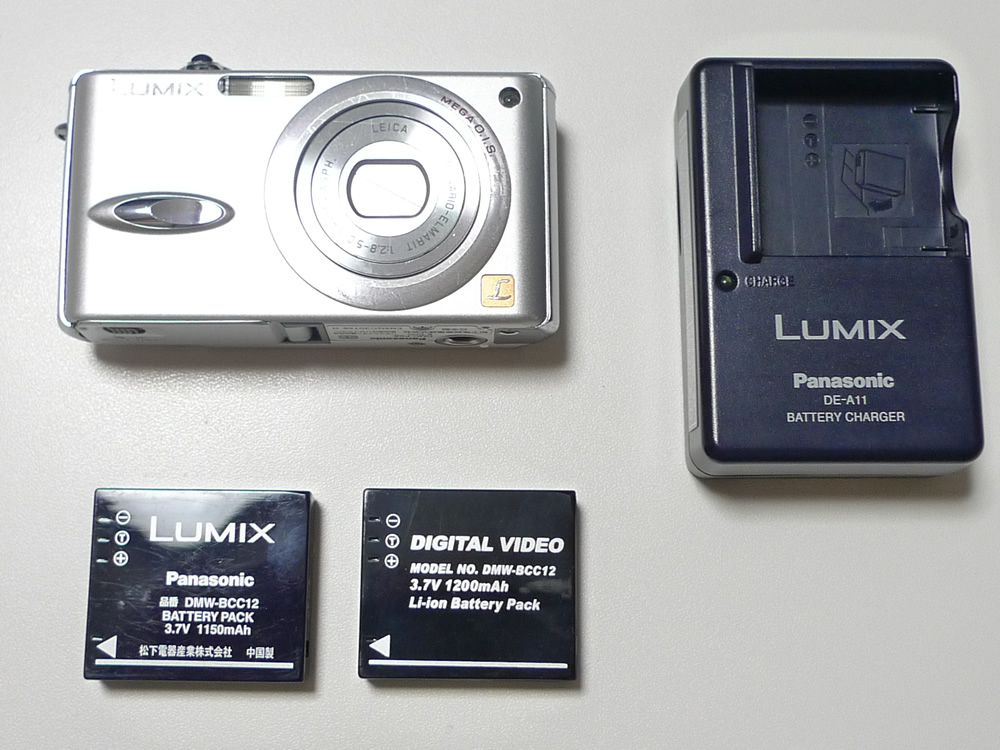 Panasonic DMC-FX8本体バッテリー