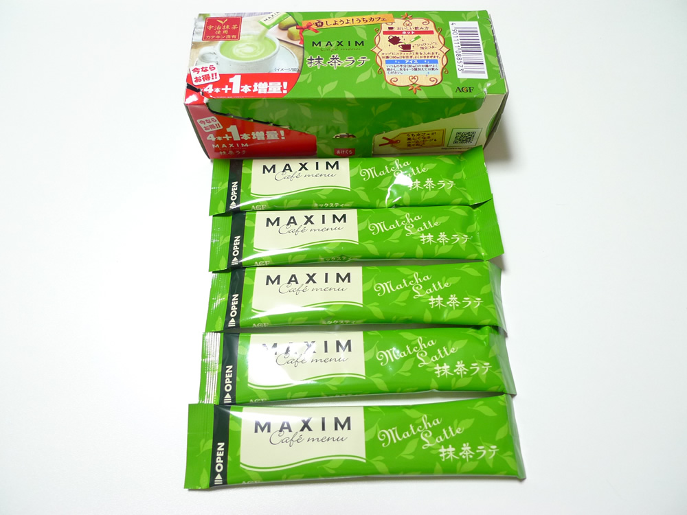 MAXIM(マキシム) 抹茶ラテ5本