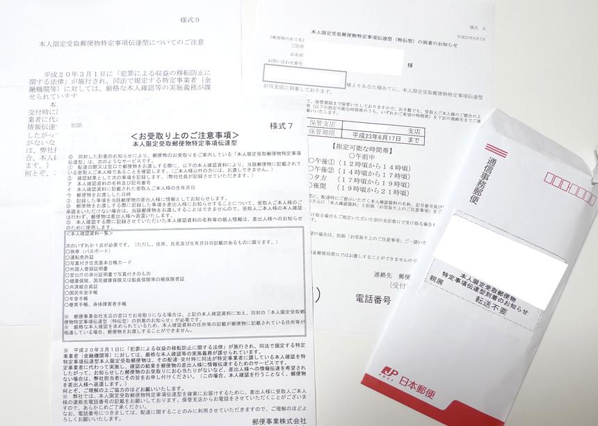 本人限定受取郵便特定事項伝達型の受け取りと保管期限・期間延長について