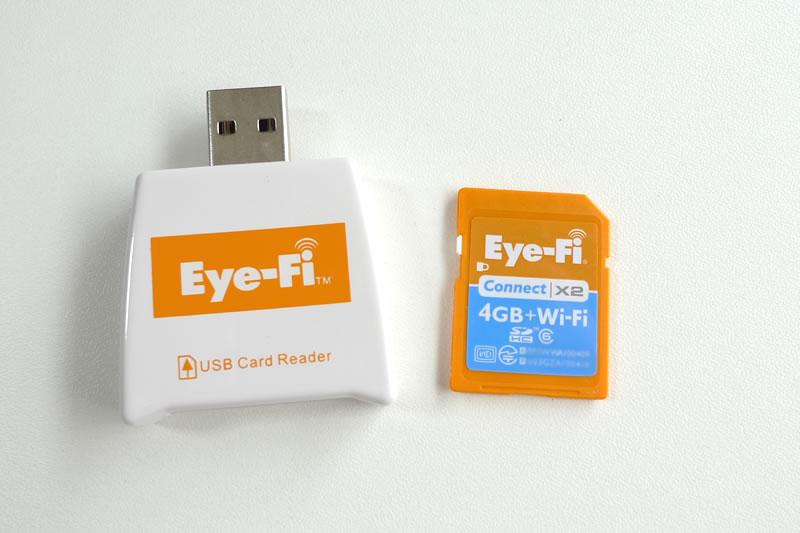 Eye-Fi Connect X2 4GB EFJ-CN-4G リーダーとSDカード
