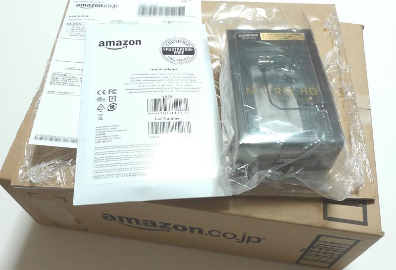 Amazonベーシック micro SDHCカード 16GB class10とイヤホン購入