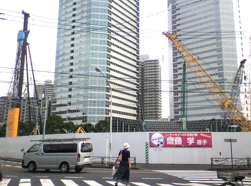 新川崎三井ビルディング前の再開発