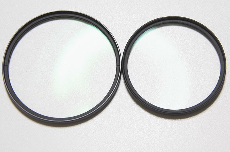 レンズプロテクトターkenko proとdigital kingとの比較全体1