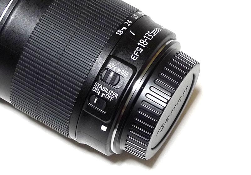 EF–S18–135 ISレンズのスイッチ類