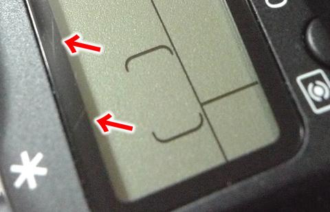 キヤノン 60D表示パネル1
