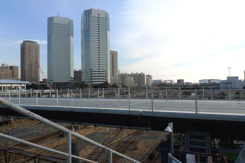 新川崎の歩道橋