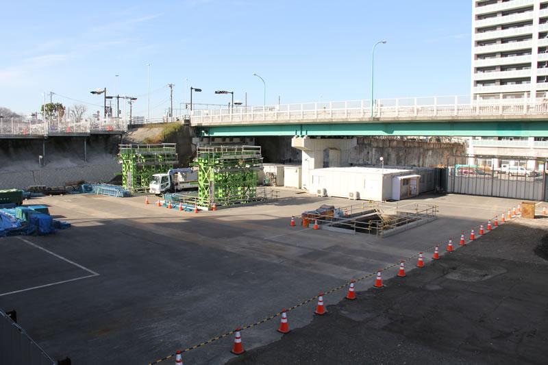 新川崎のバス・タクシー乗り場予定地新川崎のバス・タクシー乗り場予定地