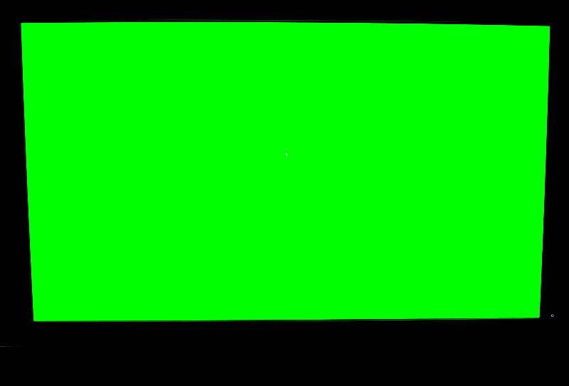 DELL U2713HMのドット抜けテスト・グリーン