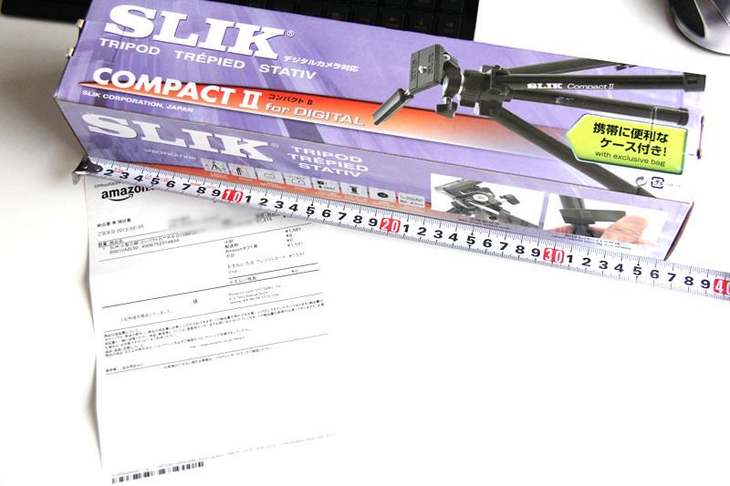 SLIK 小型三脚 コンパクト2の箱