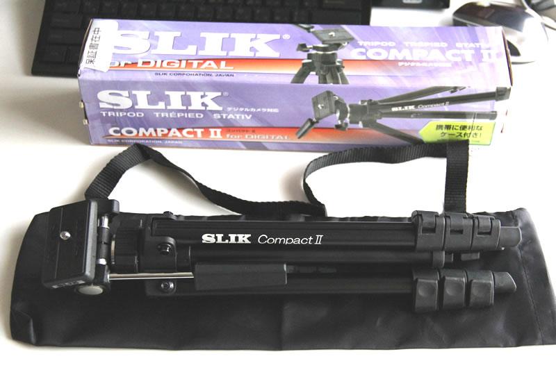 SLIK 小型三脚 コンパクト2の箱・本体・袋カバー