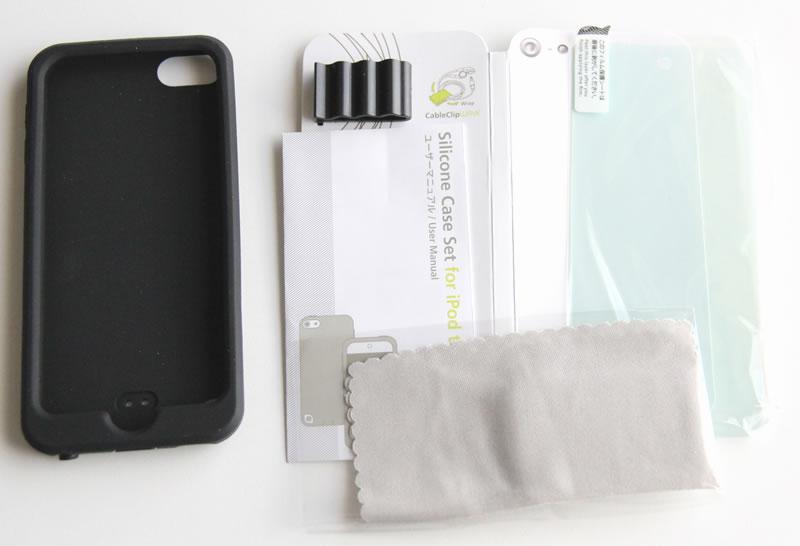 iPod touch 第5世代シリコンケースSimplism tr-sctc12-bkの付属品一覧