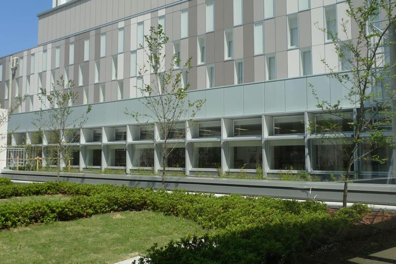 図書館前にある中庭