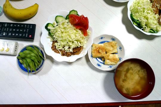 6月28日(金曜)の夕食