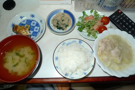 7月29日(月曜)の夕食