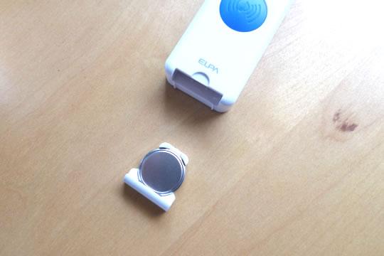 ELPA ワイヤレスピンポン ボタンリモコンスイッチの電池収納場所