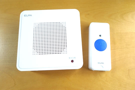ELPA ワイヤレスピンポン 押ボタン送信器セット 本体