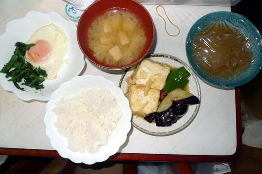 8月3日(土曜)の夕食