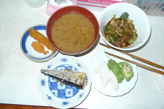 8月08日(木曜)の夕食
