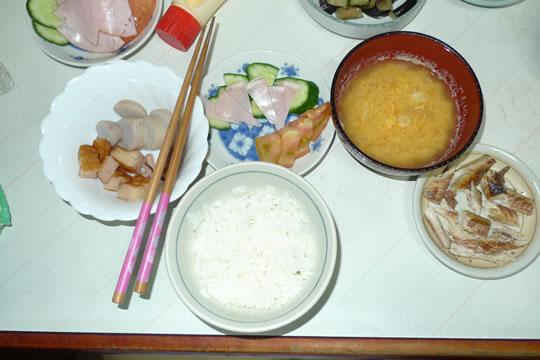 8月12日(月曜)の夕食