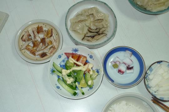 8月20日(火曜)の夕食
