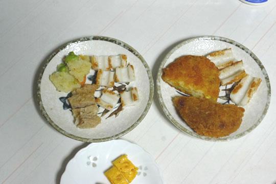 8月25日(日曜)の夕食 母用
