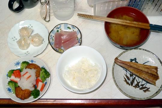 8月27日(火曜)の夕食