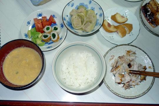 8月30日(金曜)の夕食 母用