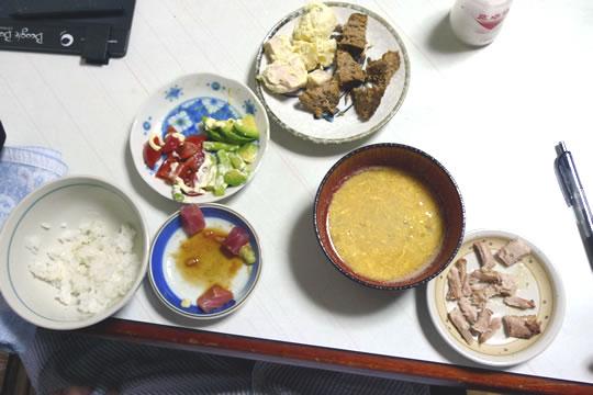 9月2日(月曜)の夕食