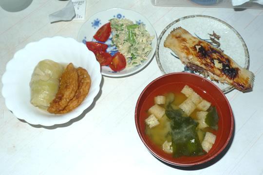 9月4日(水曜)の夕食