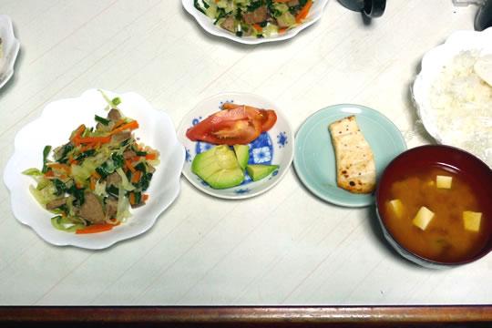 9月12日(木曜)の夕食 母用