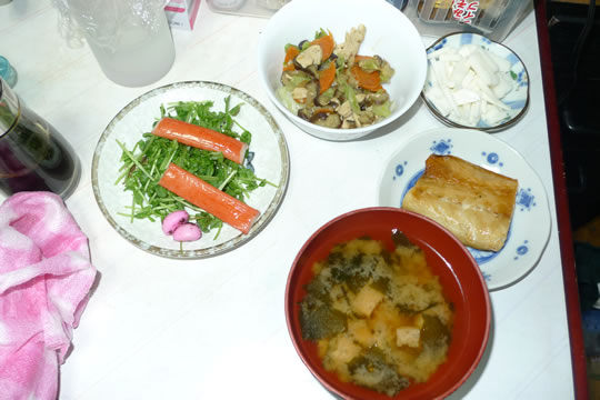 9月21日(土曜)の夕食