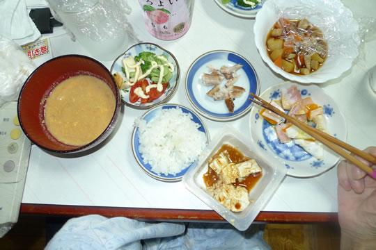 9月25日(水曜)の夕食 母用