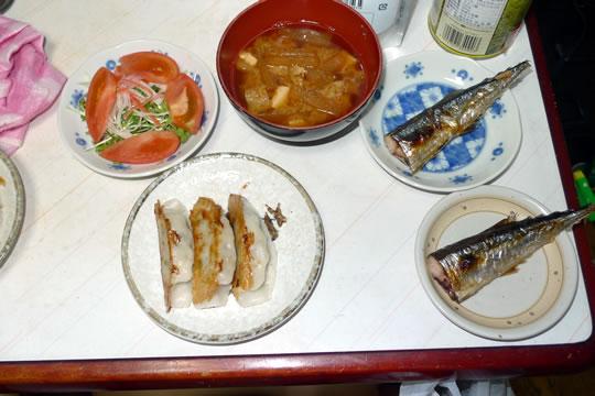 9月28日(土曜)の夕食