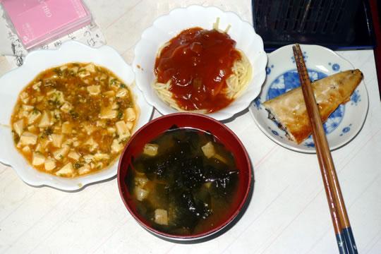 10月07日(月曜)の夕食