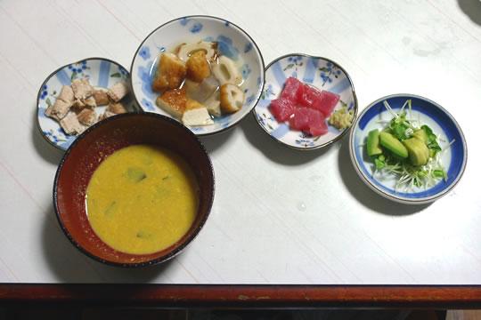 10月09日(水曜)の夕食 母のご飯