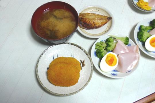 10月10日(土曜)の夕食
