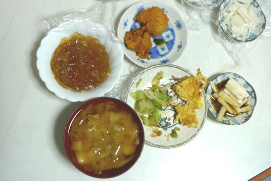 10月12日(土曜)の夕食