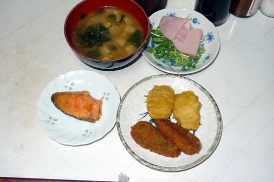 10月14日(月曜)の夕食