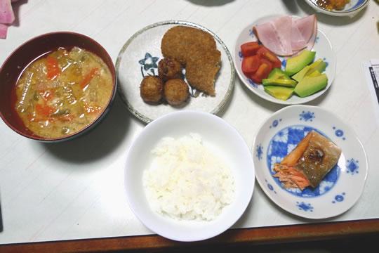 10月22日(火曜)の夕食