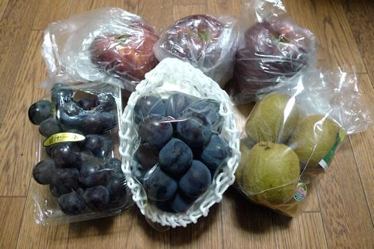 お見舞いに果物を頂きました