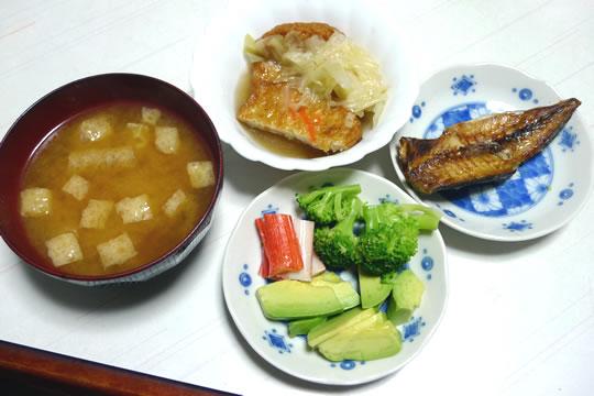 10月25日(金曜)の夕食