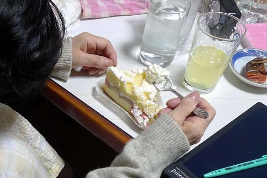 ケーキ食べ終わり