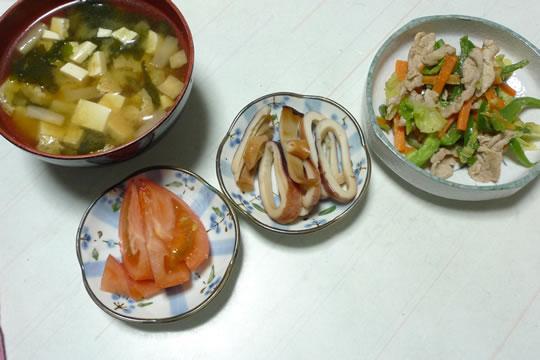 11月3日(日曜)、母の夕食