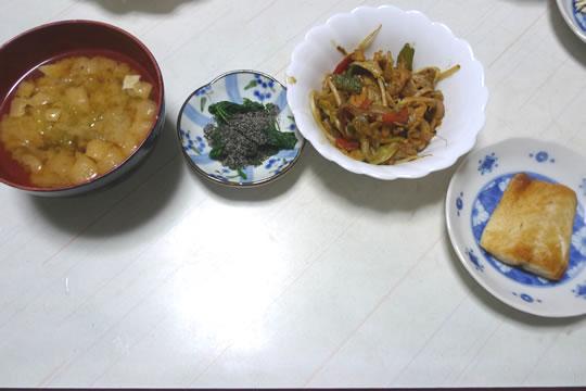 11月25日(火曜)の夕食