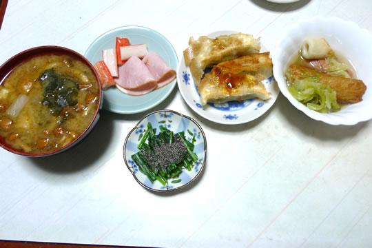 12月9日(月曜)の夕食