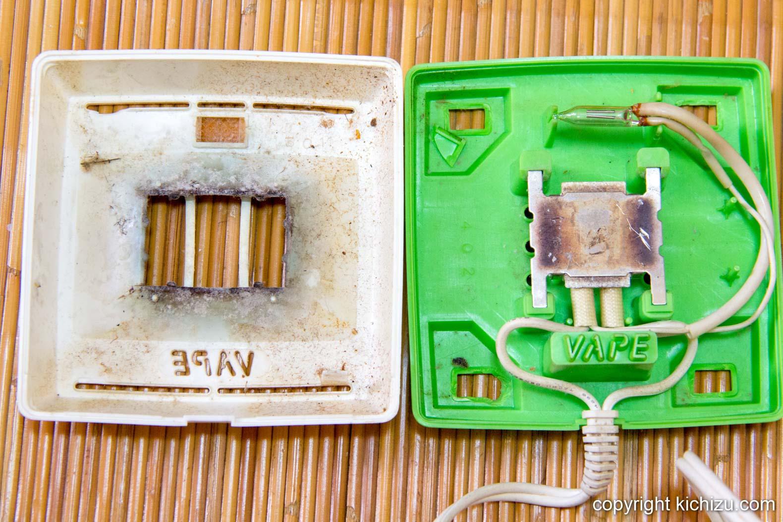 ベープ 電子蚊取りマット正方形型を分解した様子