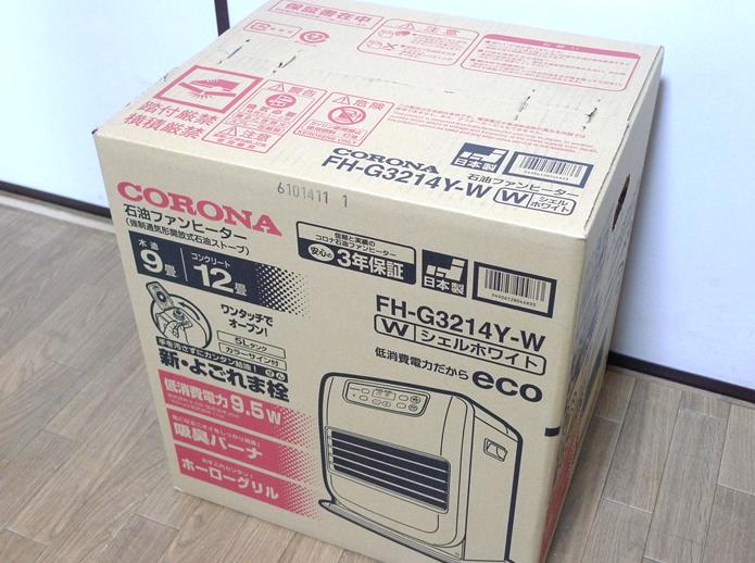 コロナ 石油ファンヒーター FH-G3214Y-Wの箱