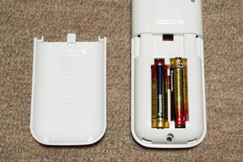 ノジマオリジナル AN25SFNS-W-ESETのリモコン電池ボックス