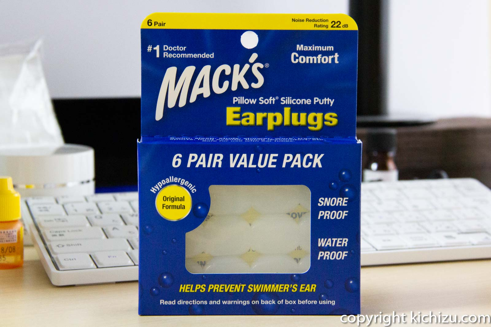 Macks Pillowのシリコン耳栓